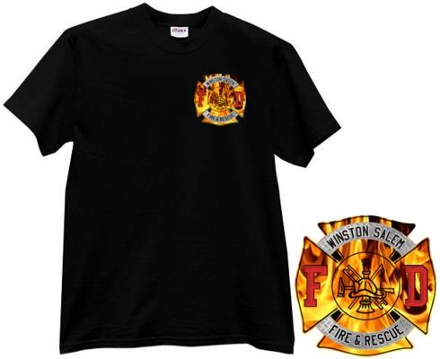 Custom imprinted fire department t shirt dtgfire d28 ts for Custom fire t shirts