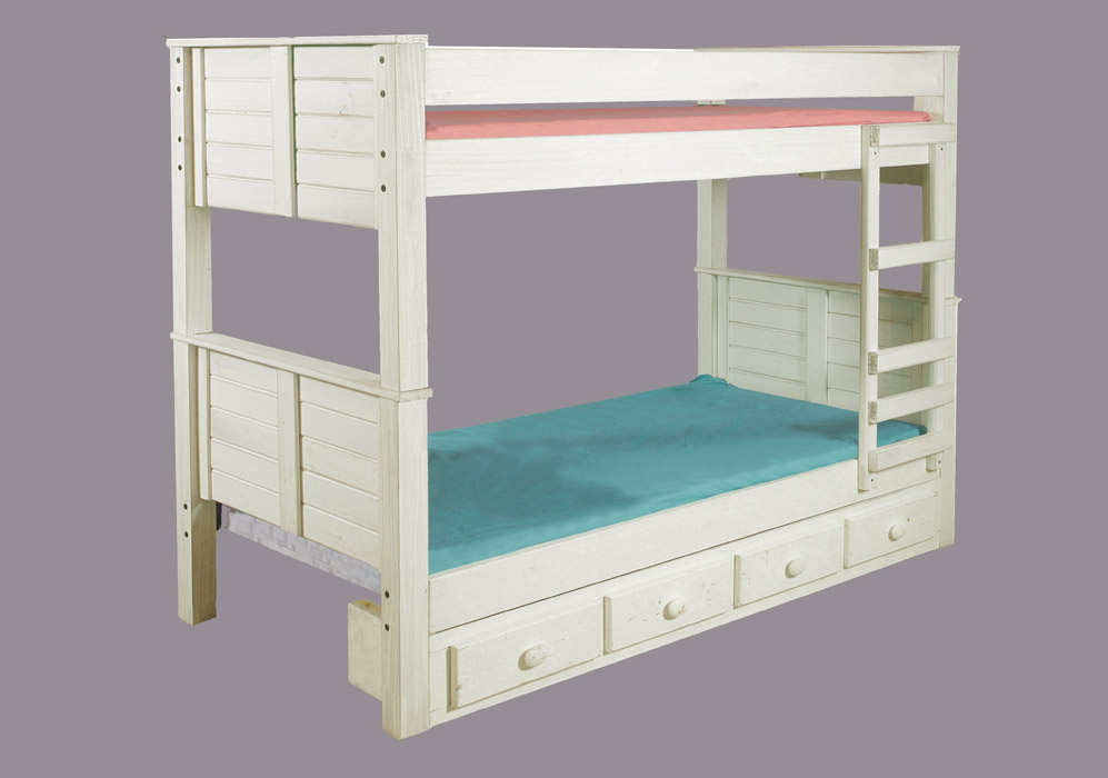 teal bunk bed pine crafter american made quality furniture bunk beds