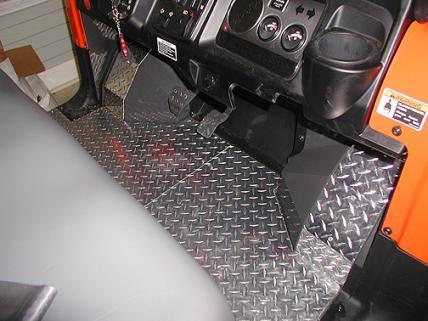 Diamond Plate Flooring For An Rtv