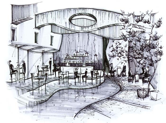 House Interior Design Sketch