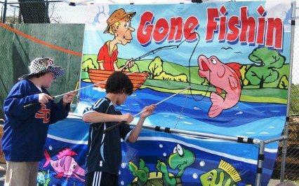 Massachusetts disc jockeys carnival games for Gone fishing game