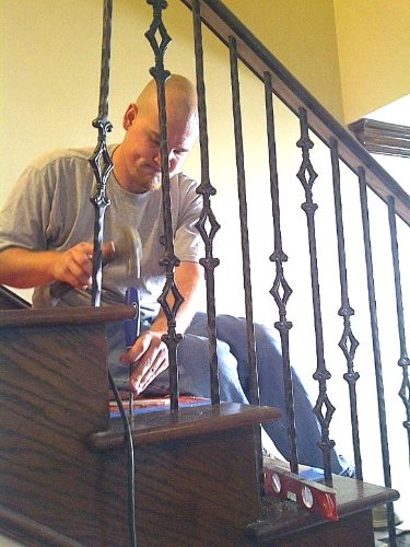 Replacing Wood Balusters With Iron Stair Balusters