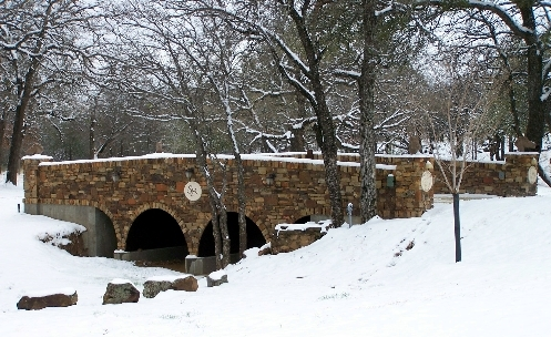 Sorrel Canyon Ranch - Entry bridge in the Easter snow 2007.