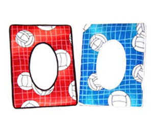 volleyball corner volleyball fabric picture frame