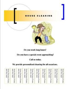 home cleaning flyer