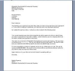 sales business letter