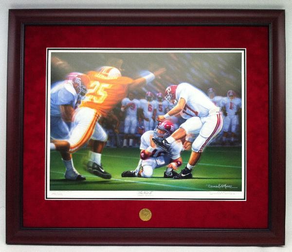 Alabama And Auburn Framed Prints The Kick Ii By Daniel