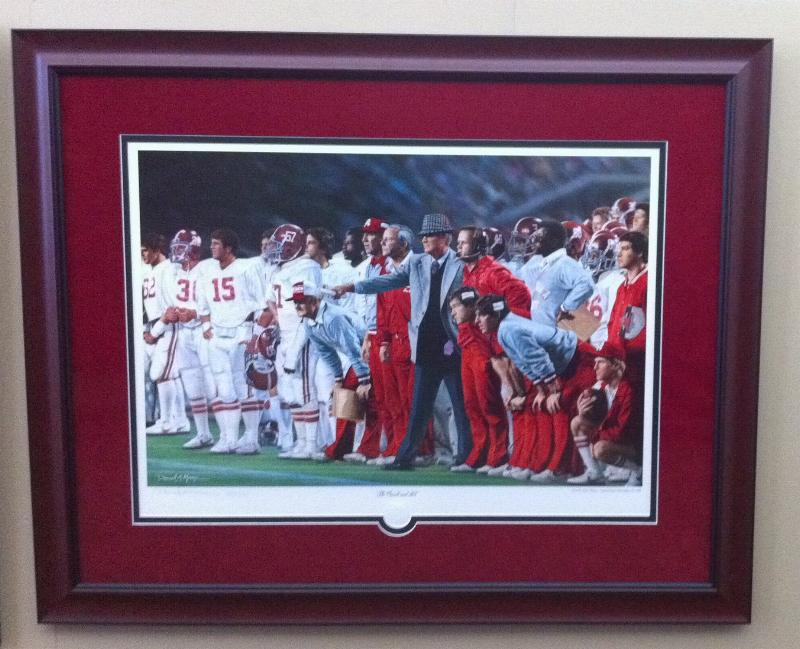 Alabama And Auburn Framed Prints The Coach And 315 By
