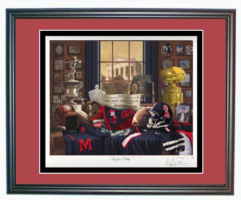 Alabama And Auburn Framed Prints Ole Miss Rebels