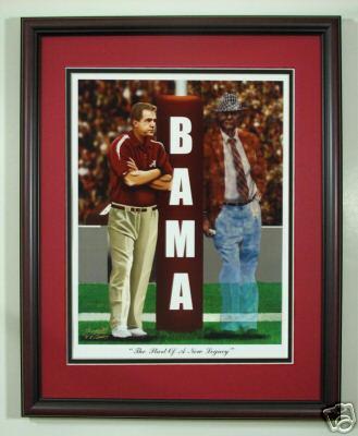 Alabama And Auburn Framed Prints Alabama Football Nick