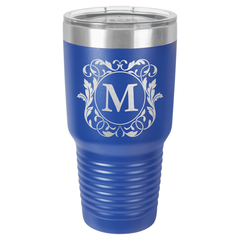 Personalized Laser Engraved 30 oz Insulated Tumbler - Teacher Apple Design