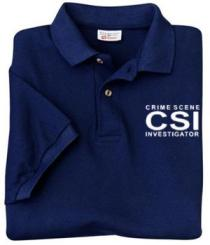 f30b70b7e Crime Scene Investigator Pique Knit Polo Shirt - Teamlogo.com | Custom  Imprint and Embroidery