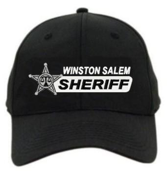 Law Enforcement Star Badge Custom Bar Logo Flexfit Cap