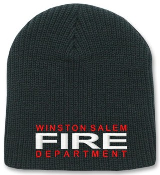 FIRE /& RESCUE Beanie hat RED With White  Embroidery