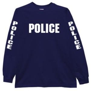 6397f0d6b Police Long Sleeve Raid T-Shirt - Teamlogo.com   Custom Imprint and  Embroidery