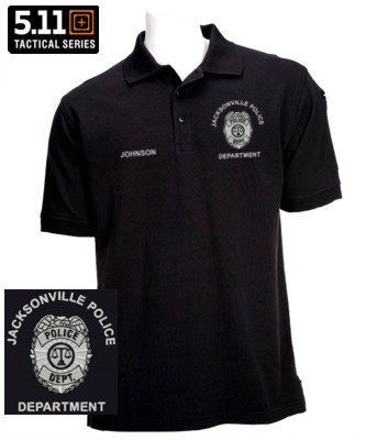 5 11 Pro Polo Law Enforcement Custom Embroidered Badge Knit Shirt Teamlogo Imprint And Embroidery