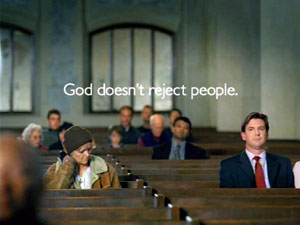 God doesn't reject people.