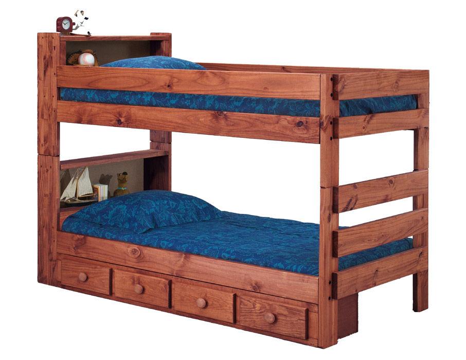 right stairs bed kids solid and espresso storage wood bunk beds with