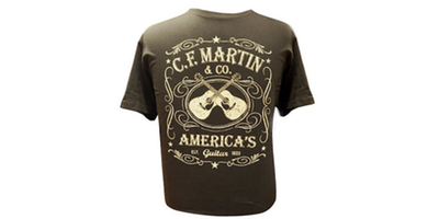 Martin Dual Guitar T-Shirt - Black