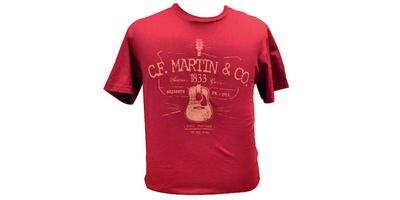 Martin D28 T-shirt Cardinal Red