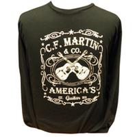 Martin Dual Guitar Long Sleeve T-Shirt - Black
