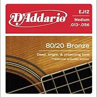 D'Addario EJ12 Medium Strings