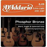 D'Addario EJ15 Extra Light Strings