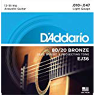 D'Addario EJ36 Light Strings