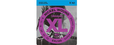 D'Addario EXL120 Nickel Wound Super Light Electric Strings