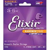 Elixir 11152 Nanoweb Light 12 String