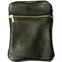 John Pearse Musician's Leather Carryall - Black - Small