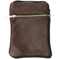 John Pearse Musician's Leather Carryall - Wine - Small