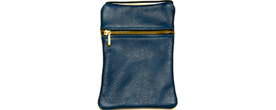 John Pearse Musician's Leather Carryall - Denim - Small