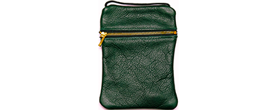 John Pearse Musician's Leather Carryall - Emerald - Small