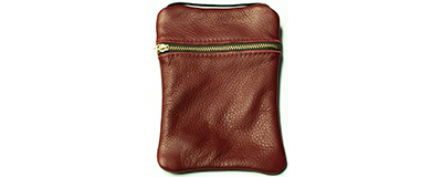 John Pearse Musician's Leather Carryall - Red - Large