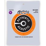 Martin MA130FX Authentic Acoustic Strings - Flexible Core Silk & Phosphor Custom