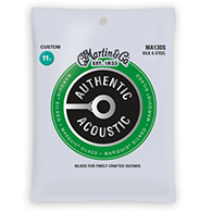 Martin MA130S Authentic Acoustic Strings - Marquis Silked Silk & Steel Custom