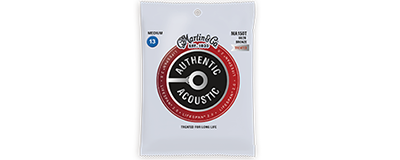 Martin MA150T Authentic Acoustic Strings - Lifespan 2.0 Treated 80/20 Bronze Medium Bulk Set of 25,m
