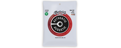 Martin MA170T Authentic Acoustic Strings - Lifespan 2.0 Treated 80 20 Bronze Extra Light