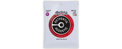Martin MA175T Authentic Acoustic Strings - Lifespan 2.0 Treated 80/20 Bronze Custom Light