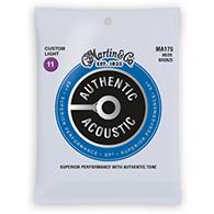 Martin MA175 Authentic Acoustic Strings - SP 80/20 Bronze Custom Light