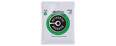 Martin MA180S Authentic Acoustic Strings - Marquis Silked 80 20 Bronze Extra Light 12-String
