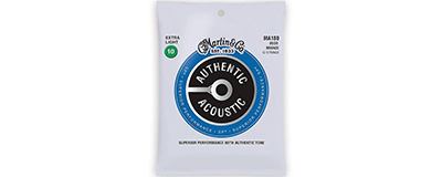 Martin MA180 Authentic Acoustic Strings - SP 80 20 Bronze Extra Light 12-String