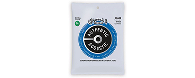 Martin MA500 Authentic Acoustic Strings - SP Phosphor Bronze Extra Light 12-String