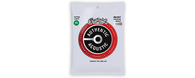 Martin MA530T Authentic Acoustic Strings - Lifespan 2.0 Treated Phosphor Bronze Extra Light