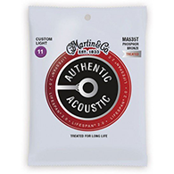 Martin MA535T Authentic Acoustic Strings - Lifespan 2.0 Treated Phosphor Bronze Custom Light