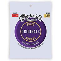 Martin M140 Original Acoustic Strings - 80/20 Bronze Light