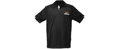 Maury's Music Polo Shirt - Black