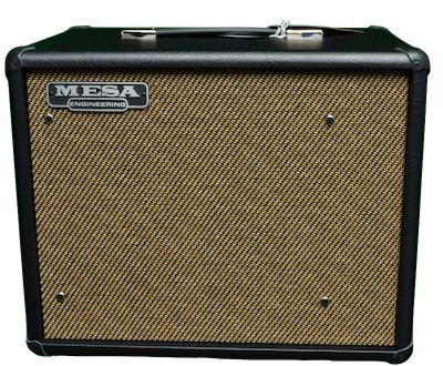 Mesa Boogie Compact Cabinet 1x12 Thiele Black Taurus with Gold Jute Grille