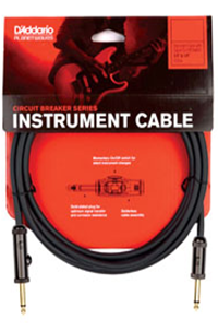 Planet Waves 10' Circuit Breaker Instrument Cable with Right Angle